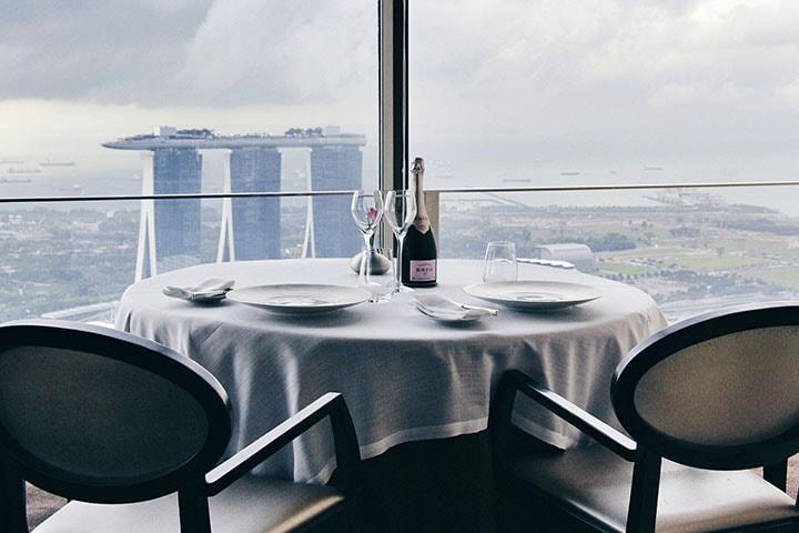 nhà hàng view đẹp ở Singapore