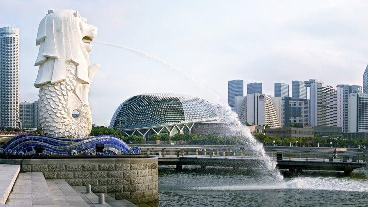 Công viên Sư tử biển Merlion ở Singapore