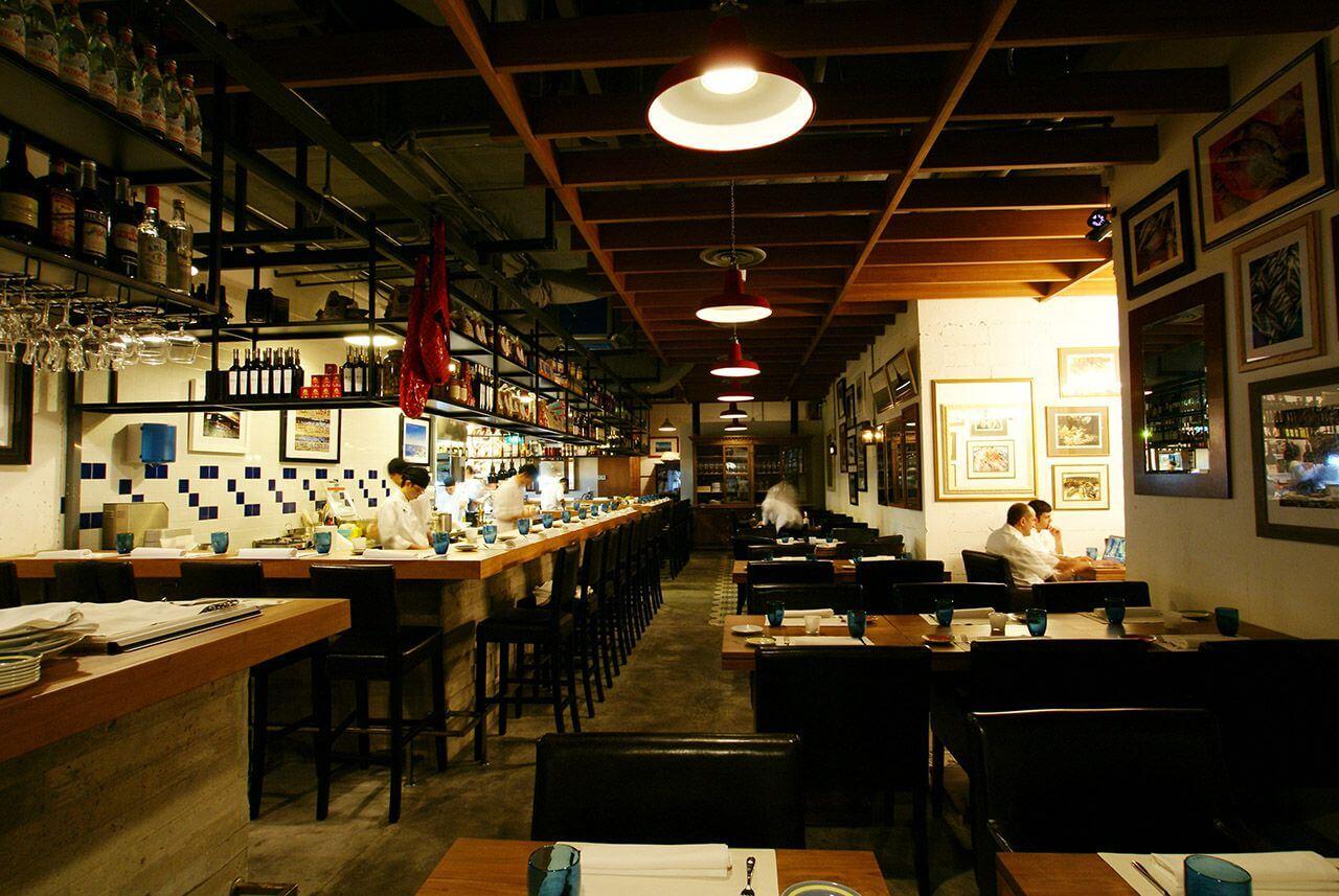 nhà hàng ở marina bay singapore